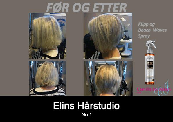 Før og etter klipp - frisør Sandefjord Camilla