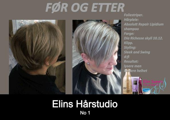 Striper klipp styling pleie - frisør Sandefjord Elin