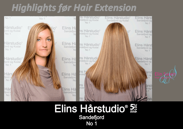 Highlights før Hair Extension