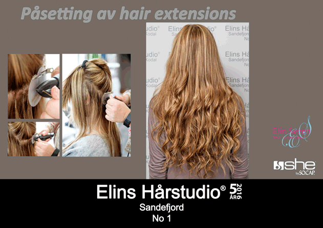 Påsetting av hair extensions