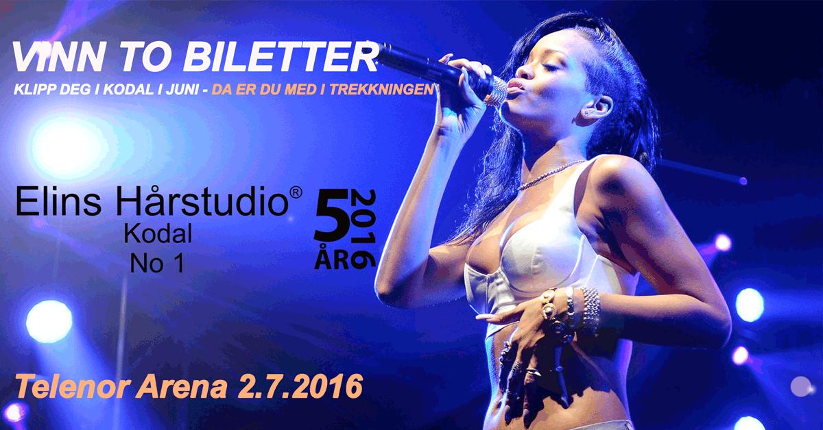 Vinn to billetter – Rihanna Telenor Arena 2. juli 2016