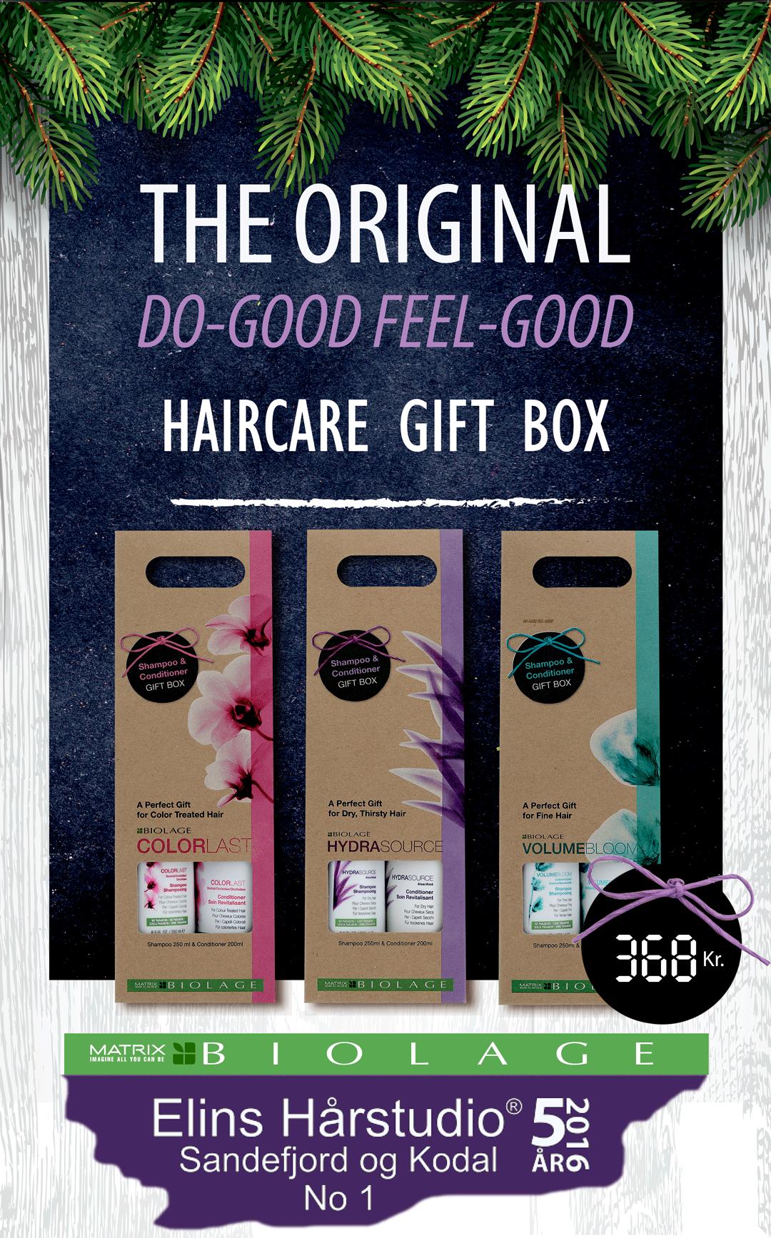 Julegavetips Biolage hår shampoo balsam