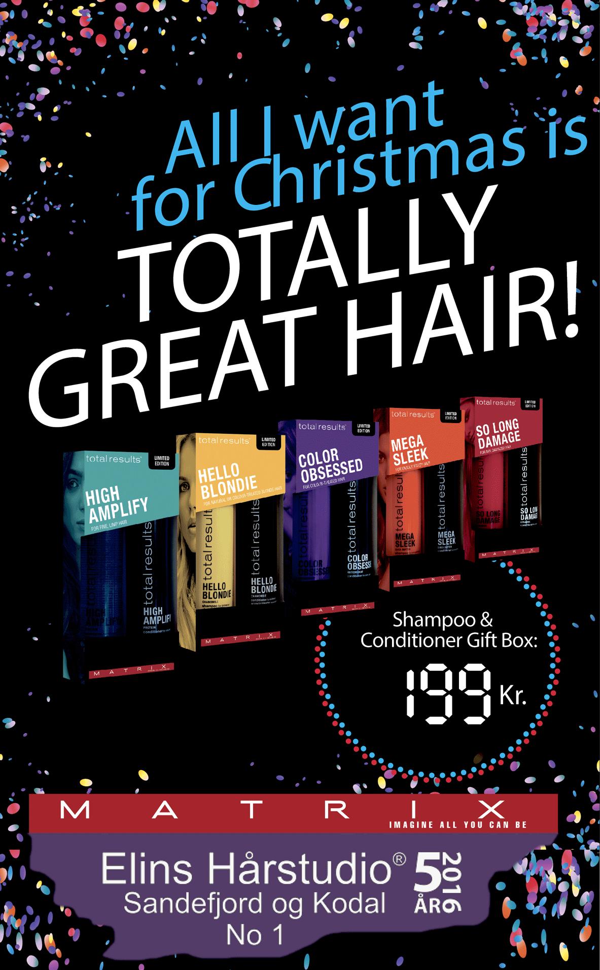 Julegavetips total results hår shampoo balsam