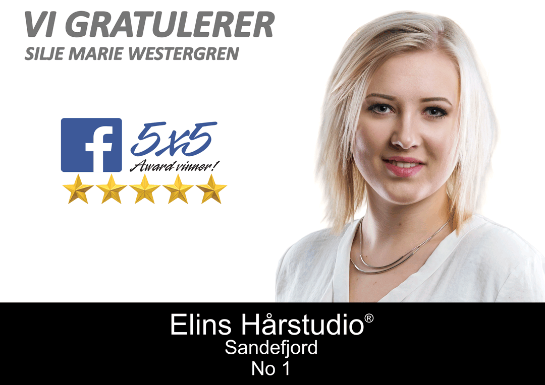 Elins Hårstudio Facebook Award Vinner Silje Marie Westergren