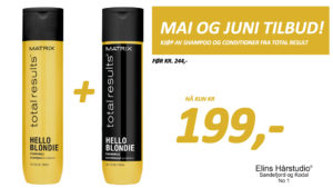 Mai og juni tilbud Matrix total results Shampoo og Conditioner