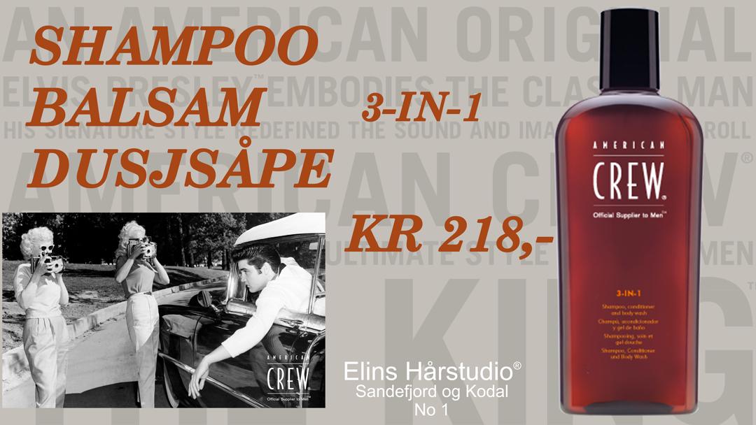 American Crew - Shampoo balsam dusjsåpe i en og samme flaske