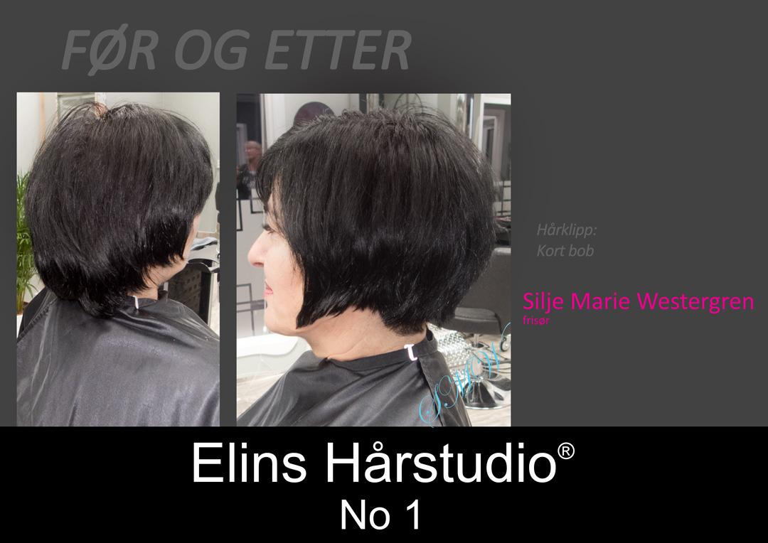 Dameklipp kort bob - Elins Hårstudio frisør Sandefjord