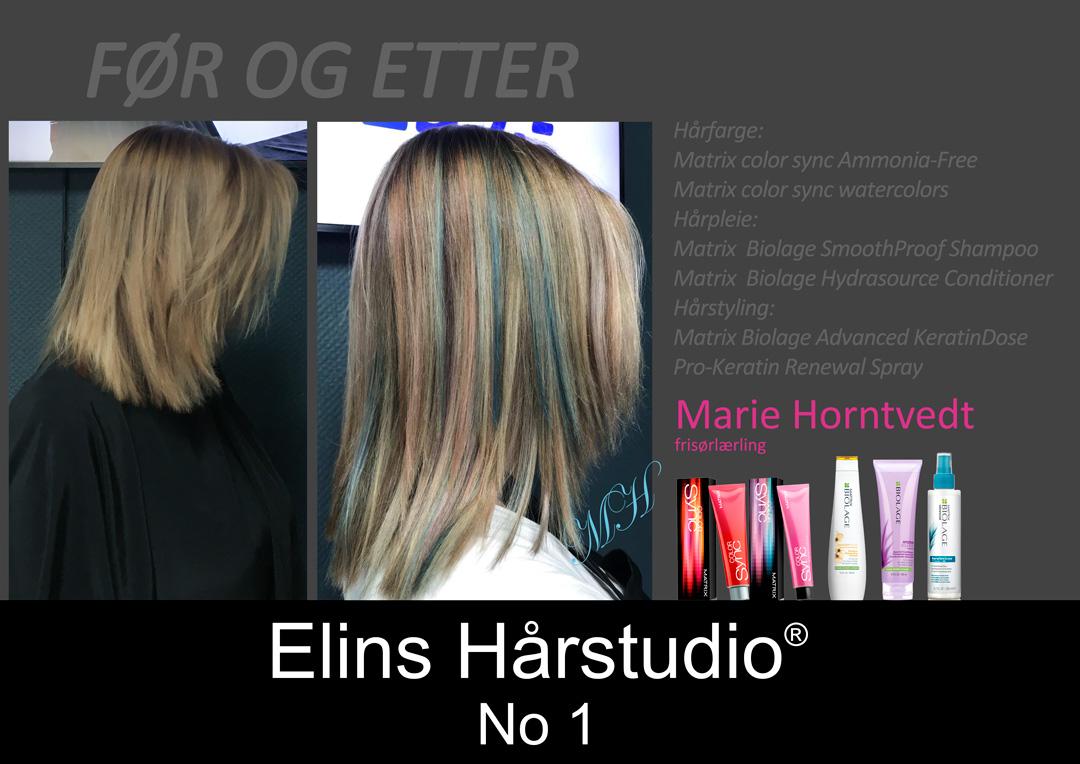 Maries Cotton Candy Hair fargeeffekter hår Matrix color sync watercolors