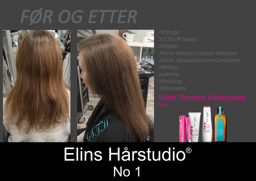 brunette farget ettervekst minicolorasjon i lengdene dypere og kledelig hårfarge