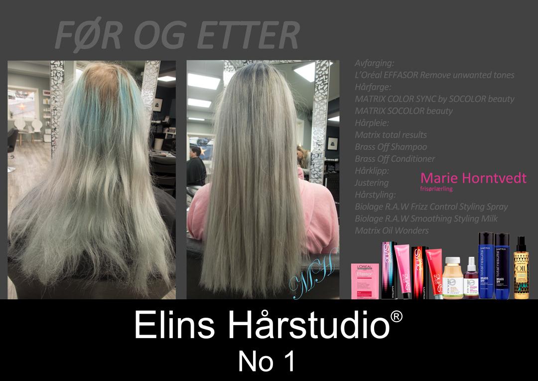 blått hår til blond kald hår Biolage R.A.W styling