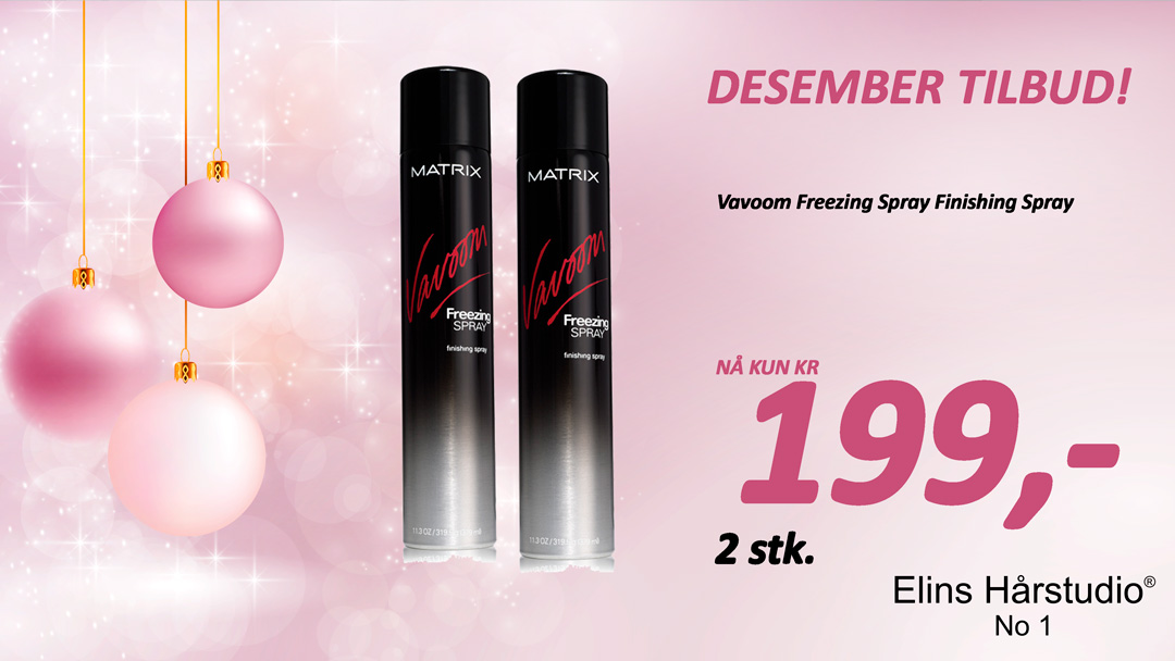 TILBUD DESEMBER 2017 VAVOOM FREEZING SPRAY FINISHING SPRAY