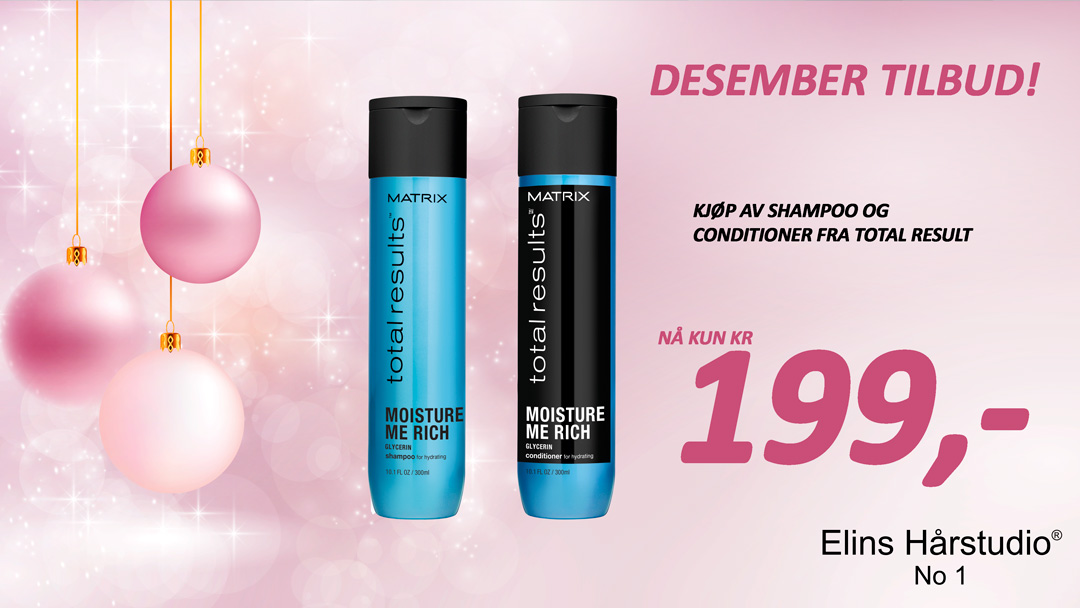 TILBUD DESEMBER 2017 - MATRIX TOTALRESULTS SHAMPOO OG CONDITIONER
