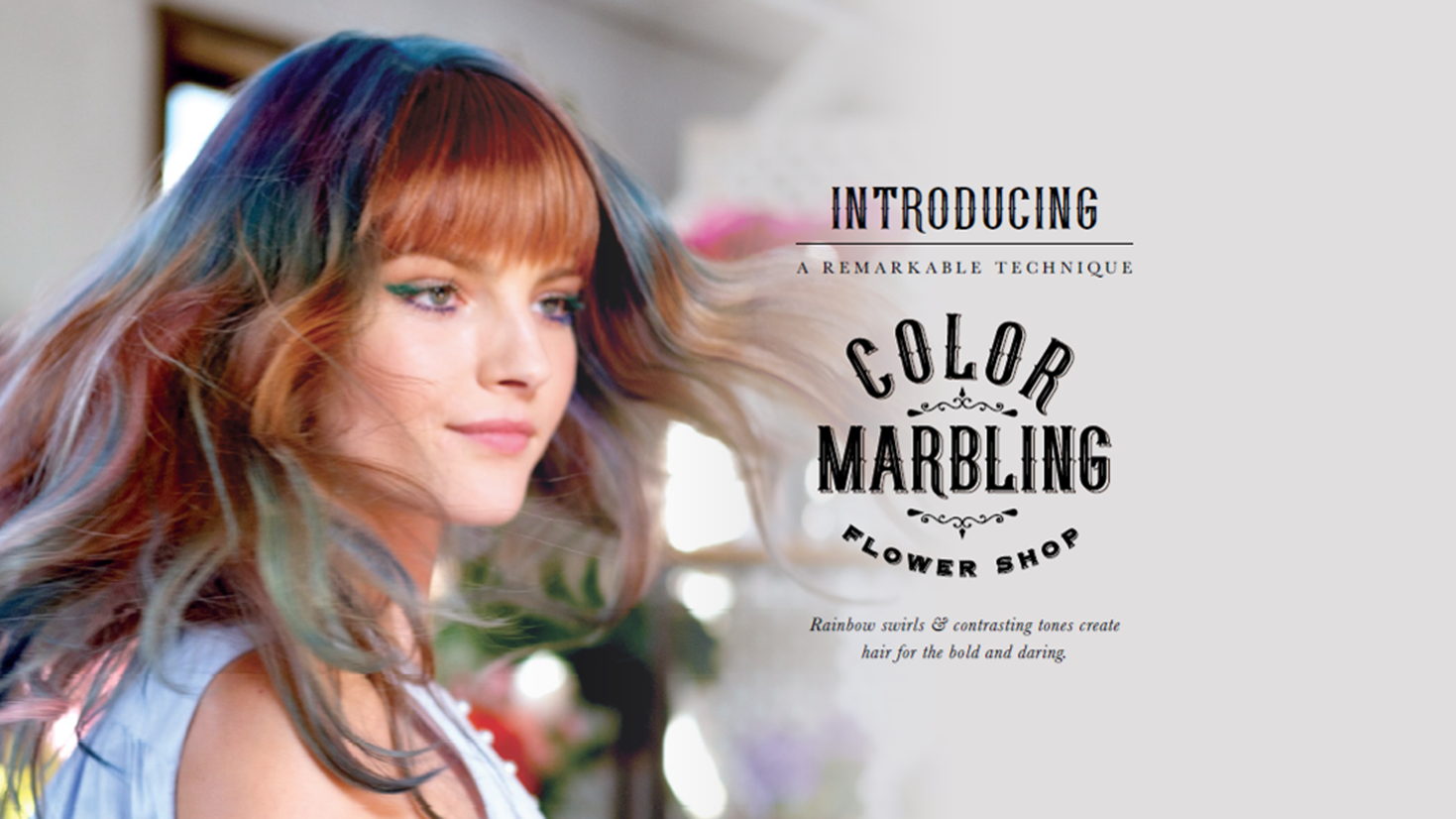 Color Marbling The Flower Shop Hair Color Trend