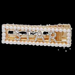 Martine hårspenne gull, perler og diamanter star