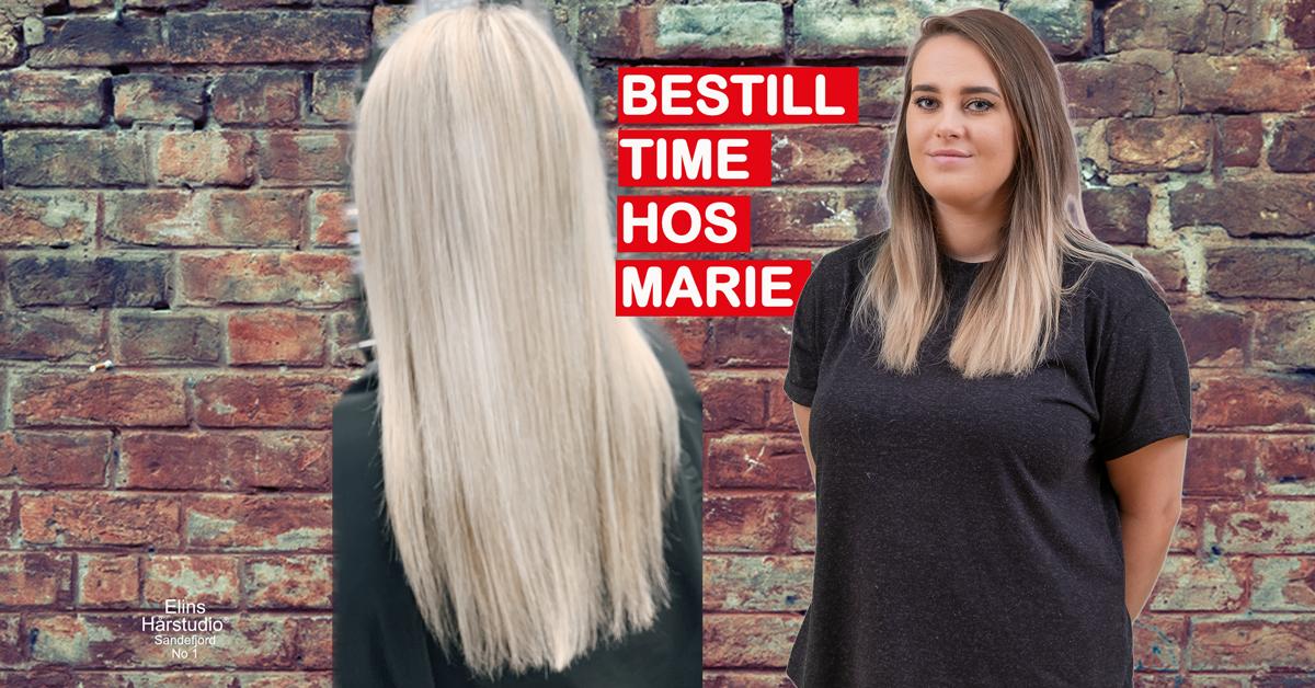 Lys kald blond langt hår - joico hårpleie produkter