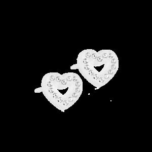Blomdahl earring medical plastic brilliance heart hollow crystal 10 mm