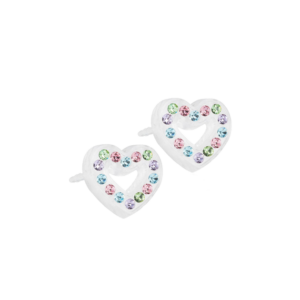 Blomdahl earring medical plastic brilliance heart hollow light fantasy 10 mm