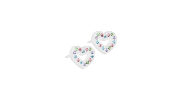 Blomdahl earring medical plastic brilliance heart hollow light fantasy 10 mm