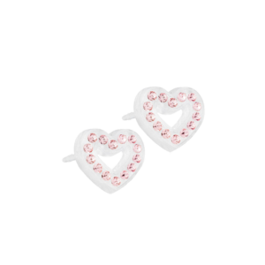 Blomdahl earring medical plastic brilliance heart hollow light rose 10 mm