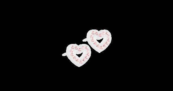 Blomdahl earring medical plastic brilliance heart hollow light rose 10 mm