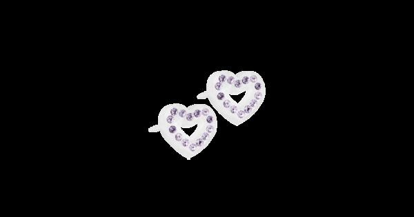 Blomdahl earring medical plastic brilliance heart hollow violet 10 mm