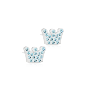 Blomdahl earring medical plastic brilliance princess aquamarine 9 mm