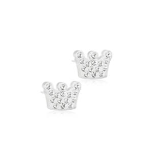 Blomdahl earring medical plastic brilliance princess crystal 9 mm m2