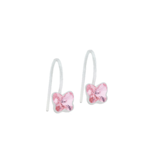 Blomdahl earring medical plastic pendant fixed butterfly light rose 5 mm