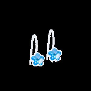 Blomdahl earring medical plastic pendant fixed flower aquamarine 6 mm