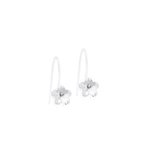 Blomdahl earring medical plastic pendant fixed flower crystal 6 mm