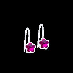 Blomdahl earring medical plastic pendant fixed flower fuchsia 6 mm