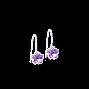 Blomdahl earring medical plastic pendant fixed flower violet 6 mm