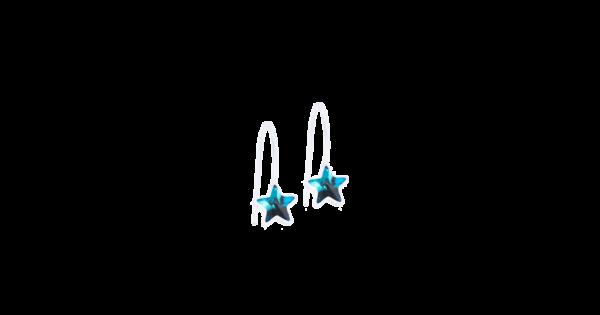 Blomdahl earring medical plastic pendant fixed star aquamarine 6 mm