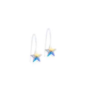 Blomdahl earring medical plastic pendant fixed star rainbow 6 mm