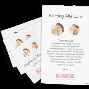 Blomdahl medical piercing aftercare renseservietter 1 pakke med 24 servietter