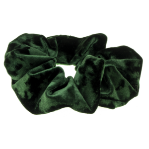 Scrunchie green velvet handmade by martine limited edition